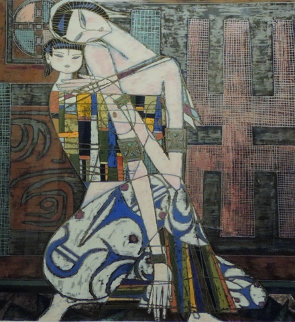 Mother And Child 1986 Limited Edition Print - Shao Kuang Ting