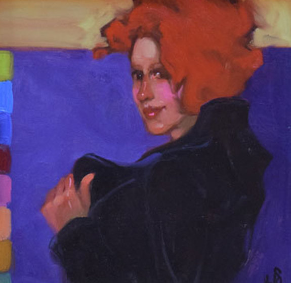 Old Fashioned Girl 14x17