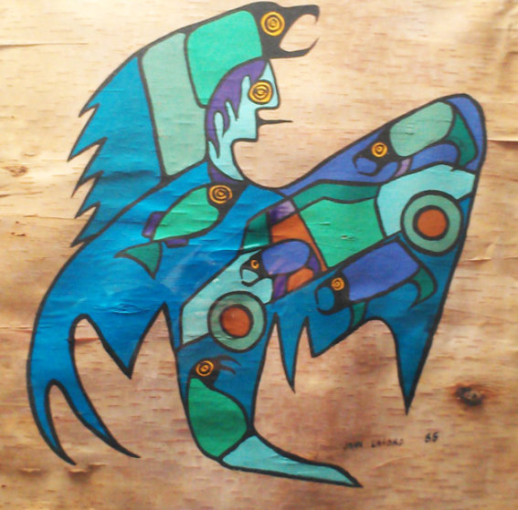 Untitled On Birchbark 1985 29x29