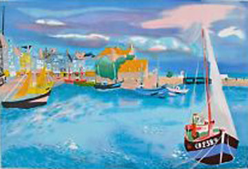 Ships in Harbor 2000 Limited Edition Print - Georges Lambert