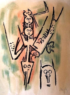 Untitled Lithograph  Limited Edition Print - Wifredo Lam