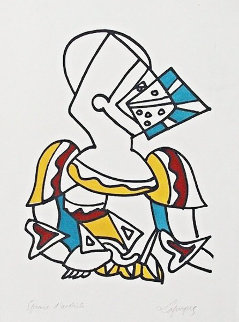 Untitled (Knight) 1959  Limited Edition Print - Charles Lapicque