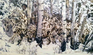 In the Company of Wolves Limited Edition Print - Judy Larson
