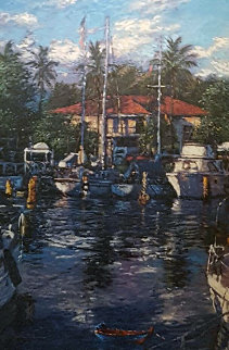 Lahaina Reflections 1980 Limited Edition Print - Christian Riese Lassen