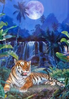 Eye of the Tiger  Embellished Limited Edition Print - Christian Riese Lassen