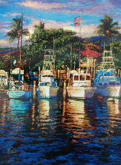 Lahaina Harbor Shores 2007 Limited Edition Print - Christian Riese Lassen
