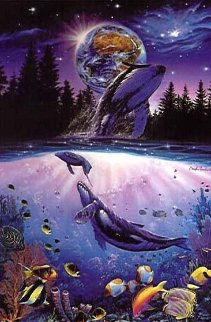 Whale Star AP 1993 Limited Edition Print - Christian Riese Lassen