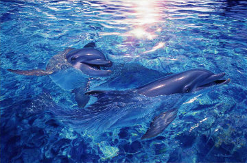 Togetherness AP 2001 w Diamonds Limited Edition Print - Christian Riese Lassen