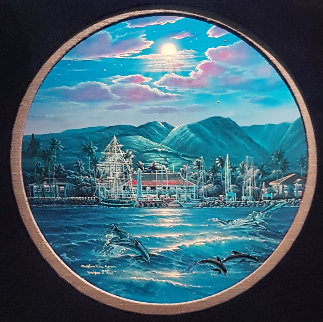 Maui With Dolphins, With Diamonds 1984 Limited Edition Print - Christian Riese Lassen
