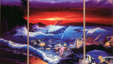 Sea Vision Triptych 1990 Limited Edition Print - Christian Riese Lassen