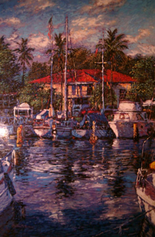 Lahaina Reflections, Maui Embellished 1981