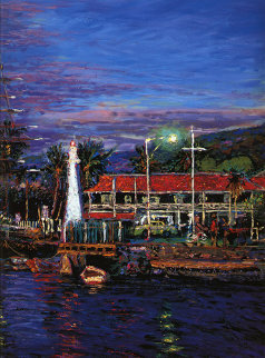 Lahaina Impressions, Maui w Remarque 1990 Limited Edition Print - Christian Riese Lassen