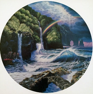 Falls of Hana 1992  (Maui) Limited Edition Print - Christian Riese Lassen