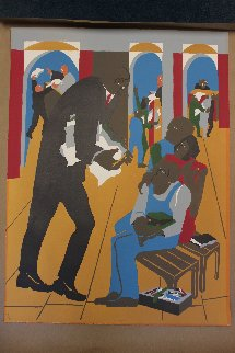 To the Defense 1989 Limited Edition Print - Jacob Lawrence