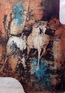 Horses In The Wind with Embossing Limited Edition Print -  Lebadang