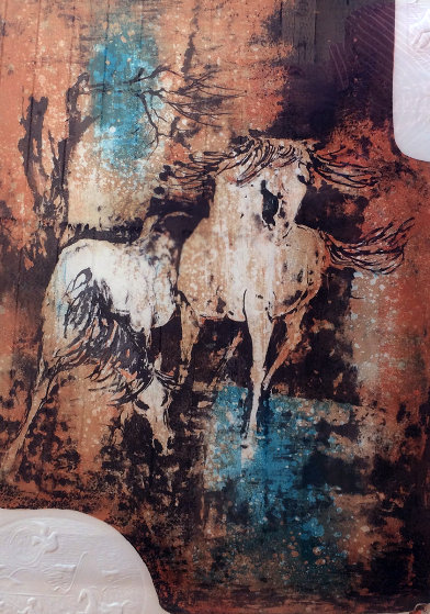 Horses In The Wind with Embossing