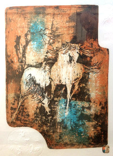 Horses in the Wind 1979 Limited Edition Print -  Lebadang