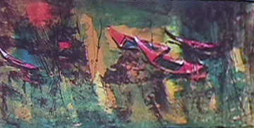 Boats at Rest 1966 Limited Edition Print -  Lebadang