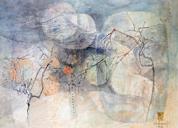 Untitled Early Watercolor 1978 31x39 Watercolor -  Lebadang