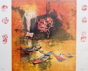 Untitled Lithograph 1995 Limited Edition Print -  Lebadang
