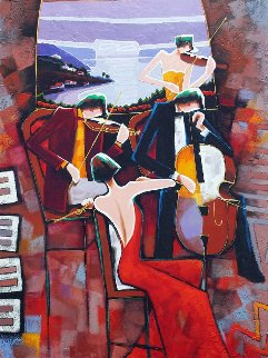Musical Performance I 48x29 Original Painting - Charles Lee