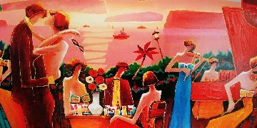 View From Above Capri 2006 Embellished Limited Edition Print - Charles Lee