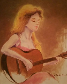 Delightful Melody 2015 30x25 Original Painting - Charles Lee