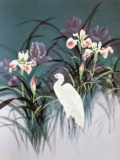 Egret 1986 Limited Edition Print - David Lee