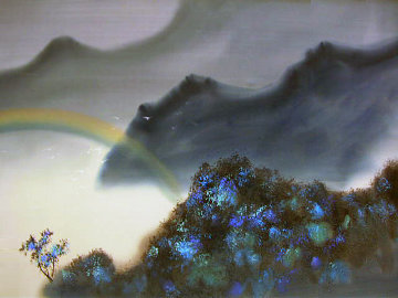 Untitled Landscape 1980 26x36 Original Painting - David Lee