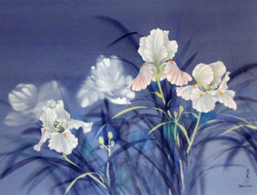 Flowers Watercolor 1978 40x30 Watercolor - David Lee
