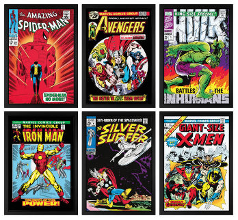 Marvel Superheroes Collection Set of 6 HS Limited Edition Print - Stan Lee