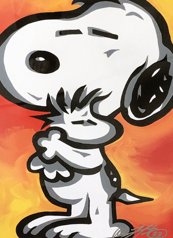 Snoopy and  Woodstock, Red and Yellow 2008 27x33