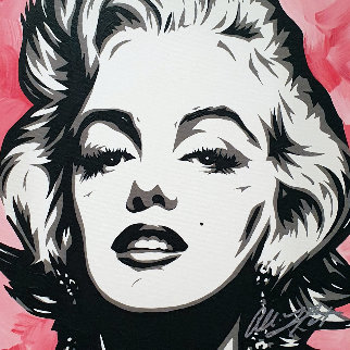 Sexy Marilyn 2007 19x19 Original Painting - Allison Lefcort