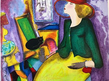 Lady and Black Cat  Limited Edition Print - Linda LeKinff