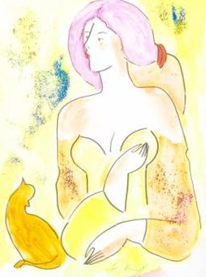 Moreno Et La Belle Watercolor 2000 17x14