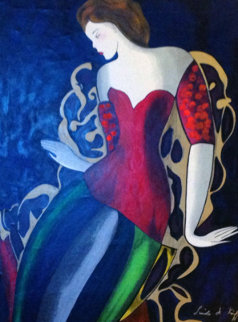 Soiree Reussie 1997 Embellished Limited Edition Print - Linda LeKinff