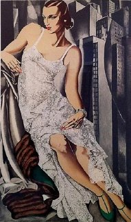 Lady in Lace Limited Edition Print - Tamara de Lempicka