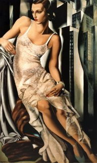 Lady in Lace 1983 Limited Edition Print - Tamara de Lempicka