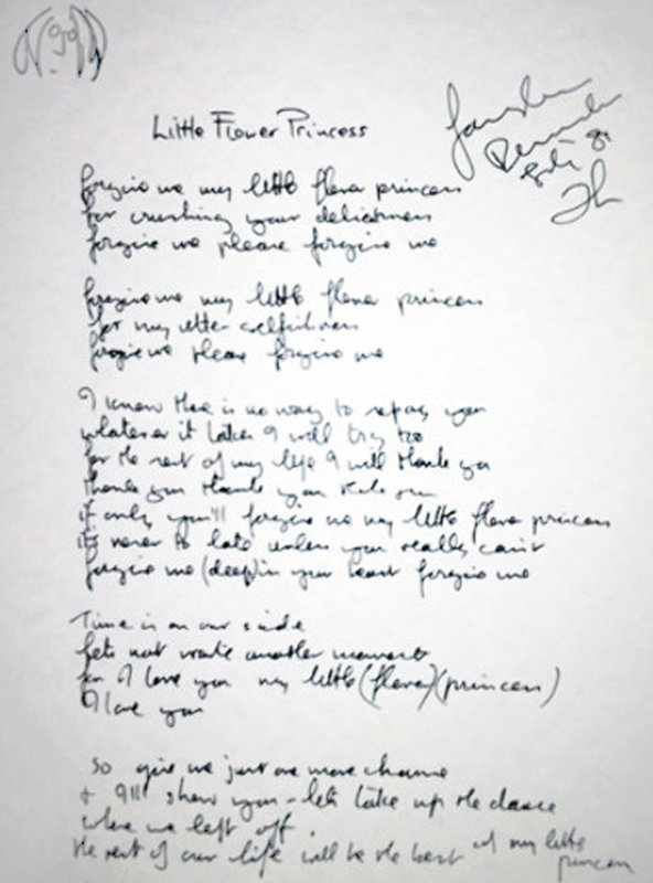 Lyrics: Little Flower Princess 1995