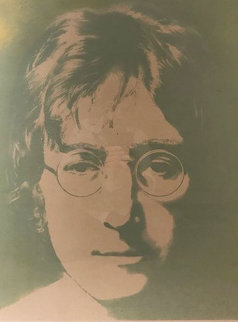Silk Screened Portrait of John Winston Lennon 1990 Limited Edition Print - John Lennon
