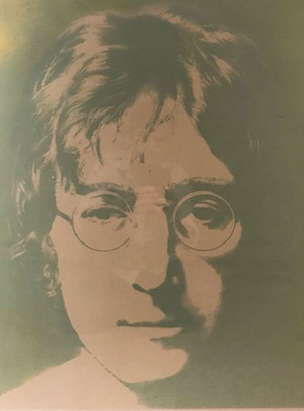 Silk Screened Portrait of John Winston Lennon 1990