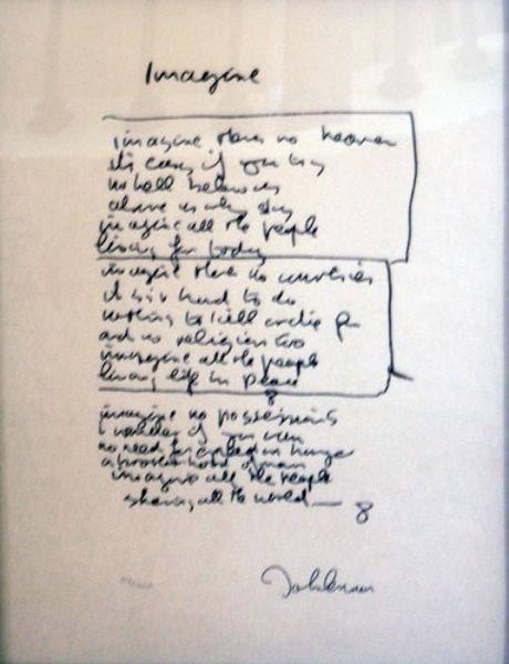 thesis statement for john lennons imagine