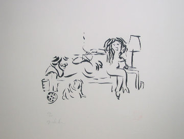 On the Telephone with Family 1996 Limited Edition Print - John Lennon