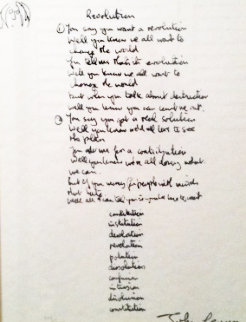 Revolution Lyrics Limited Edition Print - John Lennon