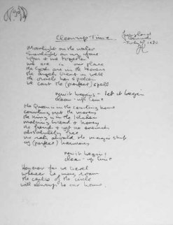 Lyrics: Clean Up Time 1980 Limited Edition Print - John Lennon