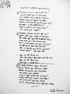 Lyrics: Instant Karma  2002 Limited Edition Print - John Lennon
