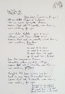 Real Love Lyrics 1995 Limited Edition Print - John Lennon
