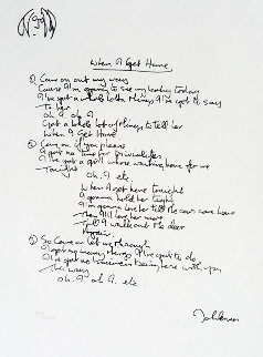 Lyrics: When I Get Home 1997 Limited Edition Print - John Lennon