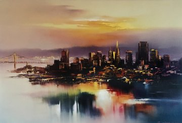 San Francisco At Dusk 1993 Limited Edition Print - Hong Leung