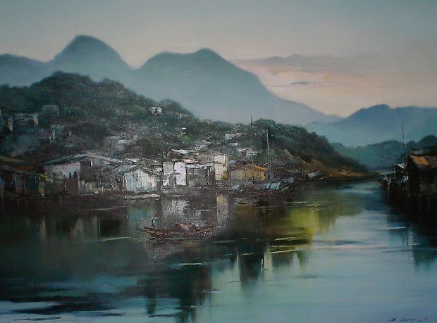 Hong Kong Village 1986 43x55